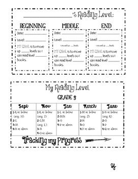 TC  Reading Level Progress Tracker Grades 3 4 5