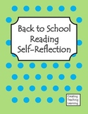 Back to School Reading Self-Reflection