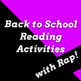 Fun Back to School Reading Skills Activities with Passages Using Rap Songs #1