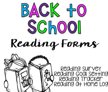 Back to School: Reading Survey & Forms