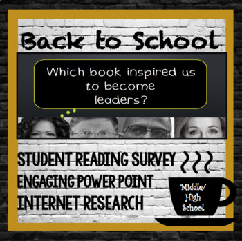 Back to School: Reading Survey, Internet Research, Powerpoint