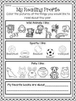Back to School Reading Surveys for Beginning Readers