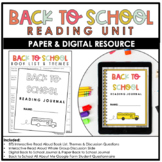 Back to School Reading Unit - Distance Learning