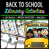 Back to School - Special Education - Reading - Writing - Life Skills