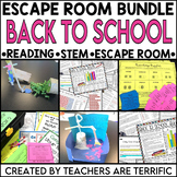 Back to School Reading and Escape Room Bundle
