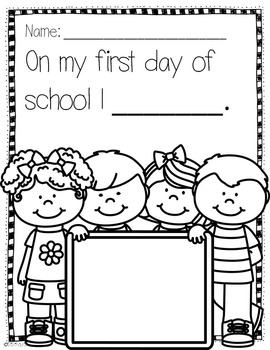 Reading and Writing Activities-Back to School
