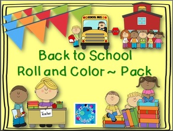 No Prep!!!  Roll and Color Packet