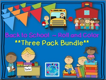 No Prep!!!  Roll and Color ~ Three Pack Bundle Saver!