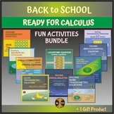 Back to School - Ready for CALCULUS - Fun Activities Bundle