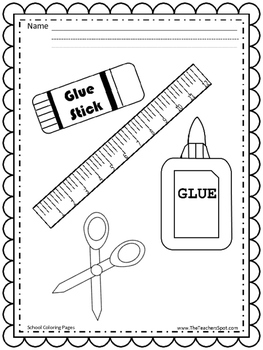 Back to School - Ready for Kindergarten - Coloring Pages
