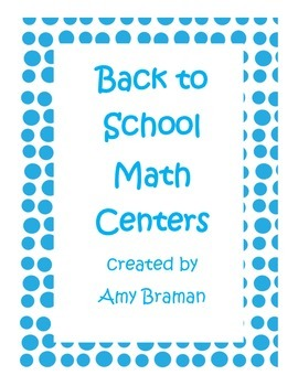 Back to School (Ready to Go)Math Centers