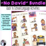 Back to School Receptive Expressive Language No David Bundle