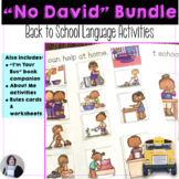 Back to School Receptive Expressive Language No David Bundle