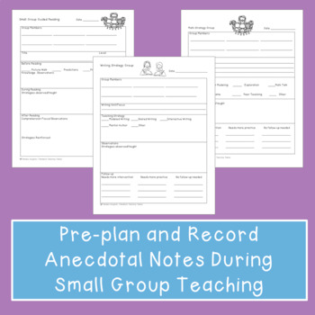Conference Forms for Reading, Writing, and Math Workshops - EDITABLE