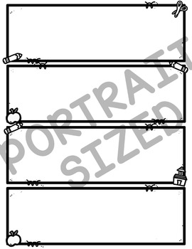 Back to School Rectangle Borders Clipart (School Clipart)