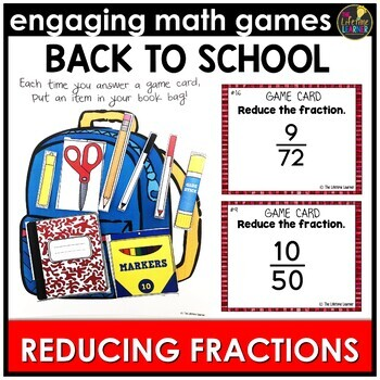 Back to School Reducing Fractions