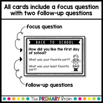 Back to School Reflection Prompt Cards
