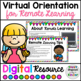 Back to School Remote Learning Virtual Orientation Templat