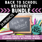 Back to School Resource BUNDLE