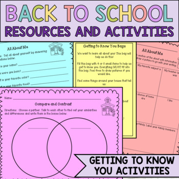 Back to School Resource Packet