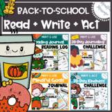 Back-to-School Resources {Reading Log/ Journaling / Mindfulness Challenge/Goals}