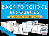 Back to School Resources for Middle School