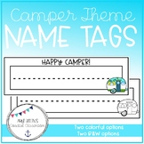 Back to School Retro Camper Themed Name Tags