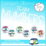 Back to School Retro Camper Themed Table Team Tags