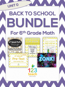 Back to School Review Bundle for 6th Grade Math