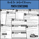 Back to School Review Math Stations Grade 7