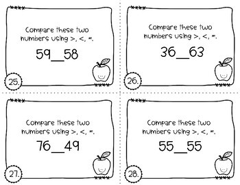 Place Value Task Cards - Back to School