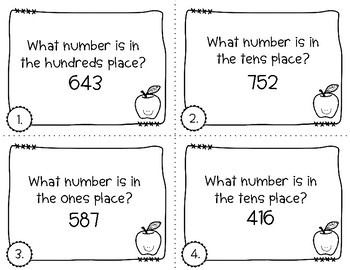 Place Value Task Cards | Back to School