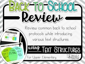 Back to School Review: Text Structure