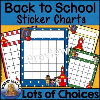 Back to School Reward Incentive Charts