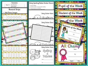 Back to School Reward Strips Sticker Books Certificates {UK Teaching Resources}