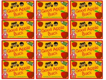 Back to School Reward System Bucks Dollars Behavior Management Apples
