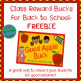 Back to School Reward System Bucks Dollars Behavior Manage