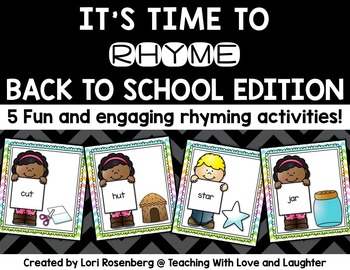 Back to School Rhyming Activities