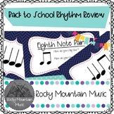 Back to School Rhythm Review