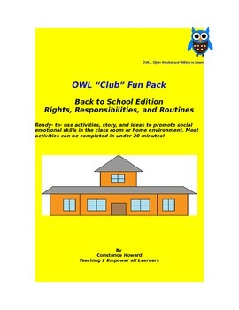 OWl Club Social Skills Kit  FREEBIE