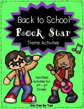 Back to School Rock Star Theme Activities