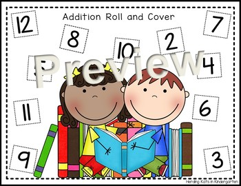 Back to School Roll & Cover Addition & Subtraction Games!