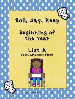 FREE Back to School Roll, Say, Keep for List A
