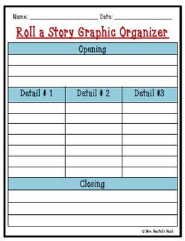Back to School Roll a Story - Prompts, Graphic Organizers, Word Lists & Rubric