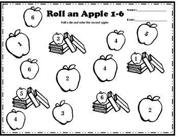 Back to School Roll an Apple