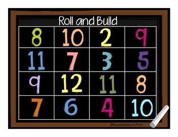 Back to School Roll and Build FREEBIE