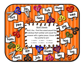 Back to School Roll and Cover Activity Pack
