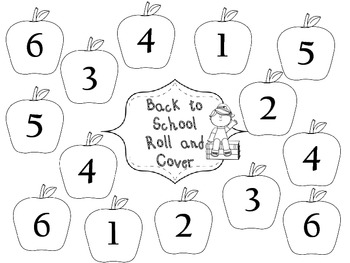 Back to School Roll and Cover Math Game-Free