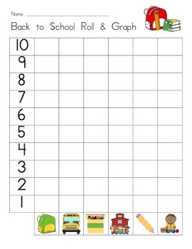 Back to School Roll and Graph