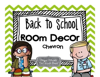 Back to School Room Decor: Chevron